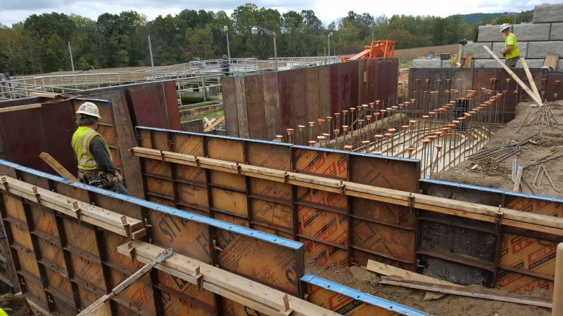 Formwork for New Headworks Building